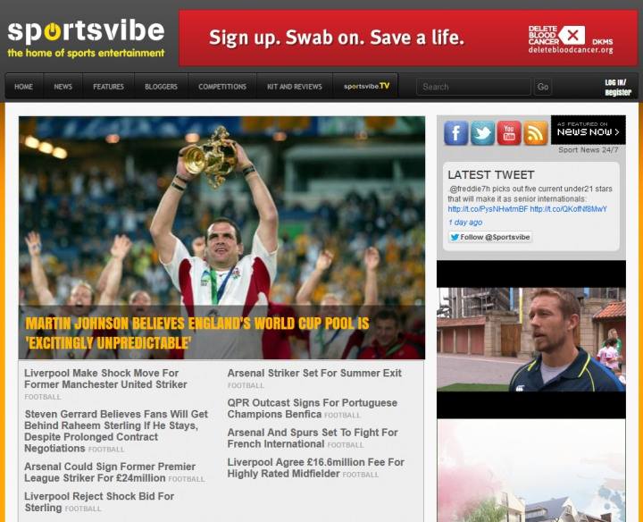 Sportsvibe  Top sports website in UK